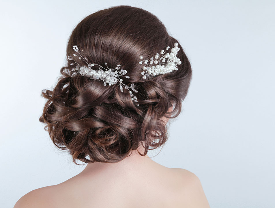brides beautiful hair style for big day