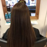 ladies long brown hair